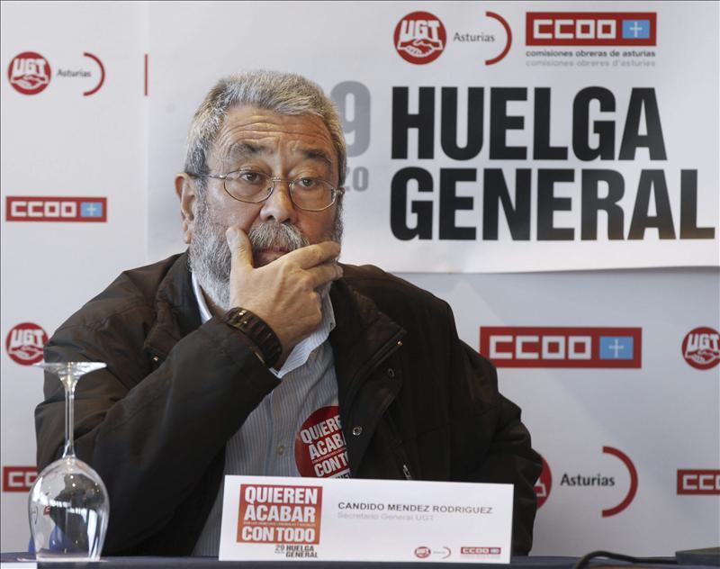 """Cándido Méndez: """"La mayoría de las cosas se han hecho bien en UGT"""""""