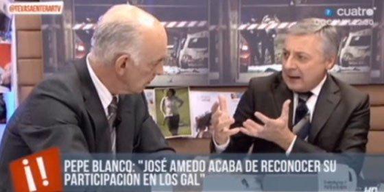 """Pepiño Blanco se encara con José Amedo por llamar traidor al PSOE: """"Usted es un poco tonto, se lo digo a la cara"""""""