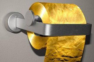 Sacan al mercado un rollo de papel higiénico de oro por...1.300.000 dólares del ala