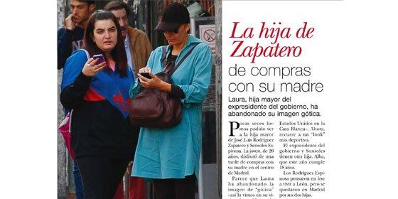 Los paparazzi pillan in fraganti a la renovada hija gótica de Zapatero