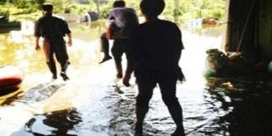'Patada' al funcionario al que llevaron a lomos para que no se manchara los zapatos