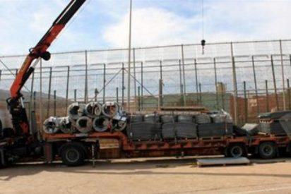 Melilla coloca cuchillas en la valla que les separa de Marruecos para evitar 'trepas'