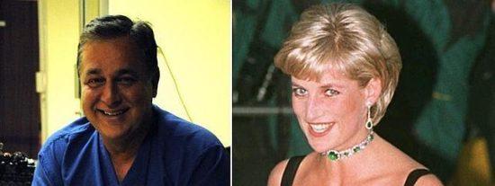 """El ex amante cirujano de la princesa Diana dice que el biopic """"traiciona' su romance"""