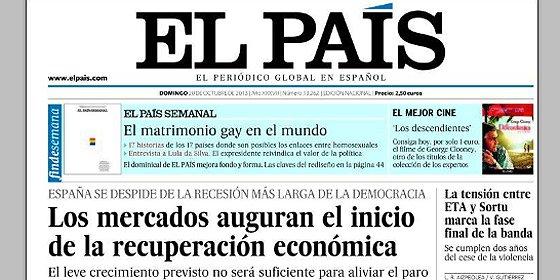 'El País' se convierte al rajoyismo y afirma que se ha iniciado la recuperación económica en España