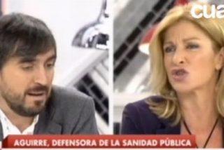 """Escolar acusa a Esperanza Aguirre de desmantelar la sanidad pública y Carmen Tomás le llama """"mentiroso"""""""