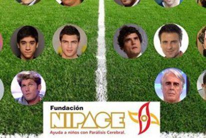Un ramillete de famosos juegan al fútbol para meterle un gol a la parálisis cerebral
