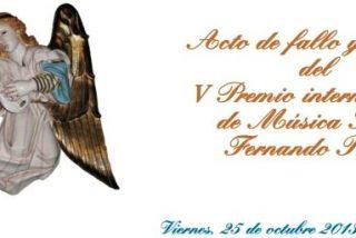 V Premio de música sacra Fernando Rielo