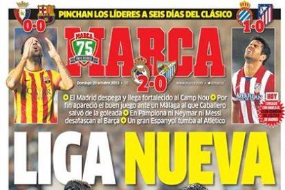 El Barça se para, el Atletico la pifia y el Real Madrid enseña los dientes de cara al 'clasico'