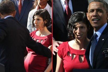 [Vídeo] Obama 'rescata' a una embarazada en apuros durante uno de sus discursos