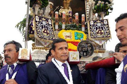 Humala participó de la procesión del Señor de los Milagros