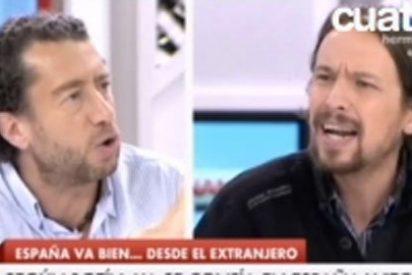 """Quevedo se encara con Iglesias por criticar a Botín: """"Haces demagogia, tienes un discurso del siglo XVIII"""""""