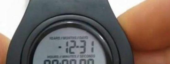 Un reloj le dice cuánto tiempo le queda de vida...¿le apetecería a usted comprarlo?