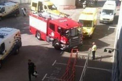 Dos trabajadores graves al explotar un cuadro eléctrico en Son Moix en vísperas del España contra Bielorrusia