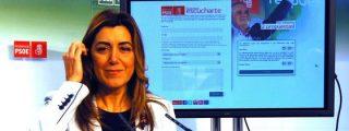 [Video] Alcaldes del PP le montan un tenso 'escrache' a Susana Díaz, presidenta de la Junta de Andalucía