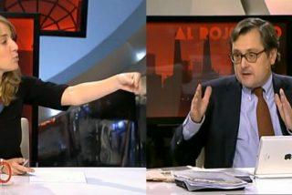 """Tania Sánchez (IU) se pone en plan miliciana con Marhuenda: """"¡Sinvergüenza, eres un heredero de Franco!"""""""