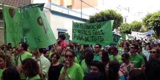 Erre que erre: Un total de 5.000 personas se manifiestan en contra de la Lomce y el TIL