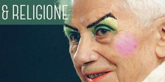 Escándalo en las alturas: maquillan a Benedicto XVI para promocionar un festival de cine gay