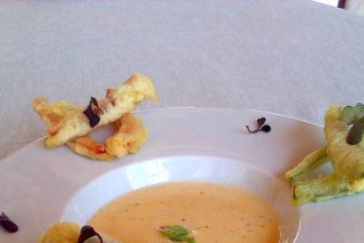 Buñuelos de presa ibérica con fondue de queso de cabra Sierra de Monfragüe