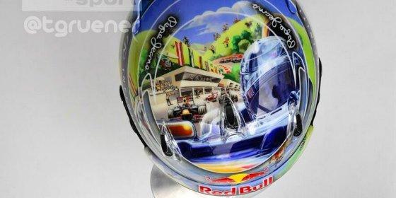 Así será el nuevo casco de Vettel