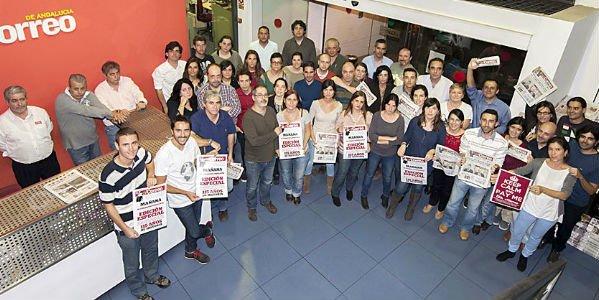 'El Correo de Andalucía', tras un encierro de 5 días en la redacción, la huelga indefinida