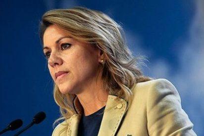 """Cospedal asegura que el PP """"no deja a nadie atrás"""", """"piensa en todos"""" y defiende España"""