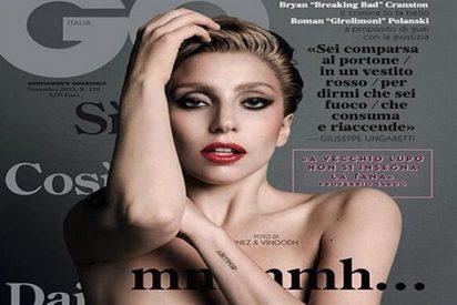 Lady Gaga descubre uno de sus senos para la revista GQ...y no el de la hipotenusa