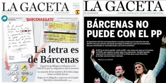 La Gaceta pasa de defender a Bárcenas a volver a mimar a Rajoy en sólo seis meses
