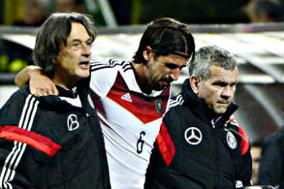 Khedira se rompe la rodilla en el amistoso ante Italia y será baja durante seis meses