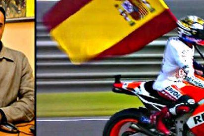 ERC llama traidor a Marc Márquez por lucir la bandera española tras ganar el Campeonato del Mundo