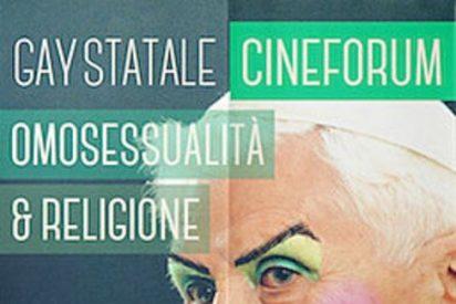 Una imagen retocada de Benedicto XVI maquillado levanta polémica en Italia