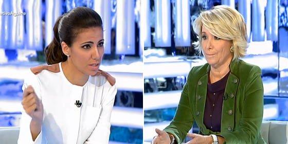 """Esperanza Aguirre a Ana Pastor: """"La palabra escrache la utilizan los de izquierda radical como usted"""""""