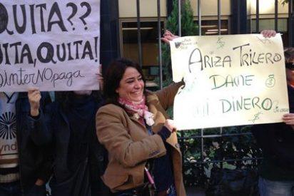"""Los afectados por los impagos de Intereconomía estallan: """"Ariza, trilero, dame mi dinero"""""""