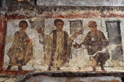 Hallan fresco de la resurrección de Lázaro en Catacumbas de Priscila