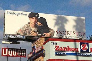 El anuncio contra los ronquidos del soldado y la musulmana despierta las iras