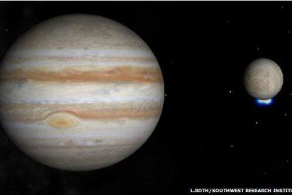 La luna Europa de Júpiter que lanza chorros de agua podría albergar vida