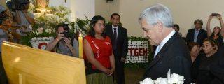 El vídeo de la mujer que escupe al presidente de Chile en el velatorio de un cura