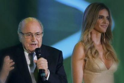 Blatter 'enloquece' con el escote de Fernanda Lima