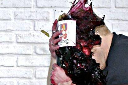 Destruyen en una plaza pública china 13.000 botellas de vino español