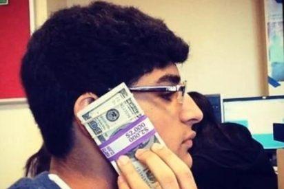 [Vídeo] El niñato millonario que se chotea de todos ata fajos de billetes a los globos