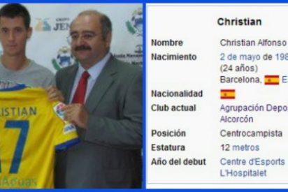 Según la Wikipedia el Alcorcón tiene un jugador de 12 metros