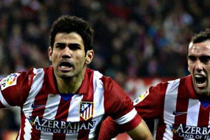 El Atlético de Madrid duerme líder de la Liga BBVA gracias al doblete de Diego Costa