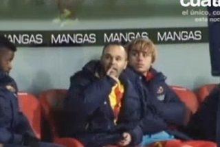 Iniesta mandó callar a un aficionado del Athletic