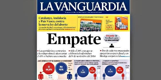 'La Vanguardia': ¿Cambio de rumbo nacionalista?