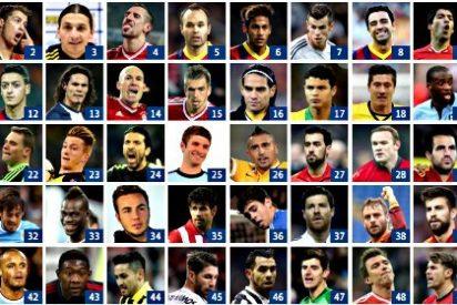 """En la lista de """"Los 100 mejores"""" de 'The Guardian' hay 11 del Barça, 9 del Real Madrid y 5 del Atlético de Madrid"""
