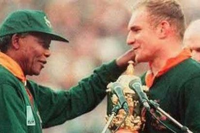 Las palabras de Pienaar a Mandela