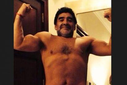 Los músculos de Maradona arrasan en Internet