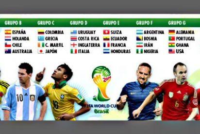 Mundial de Fútbol 2014: España cae en un grupo letal con Holanda, Chile y Australia