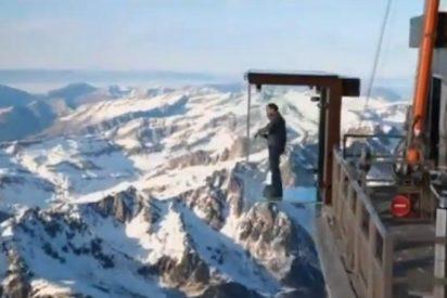 [Vídeo] Una caja de cristal a casi 4.000 metros de altura sobre los Alpes