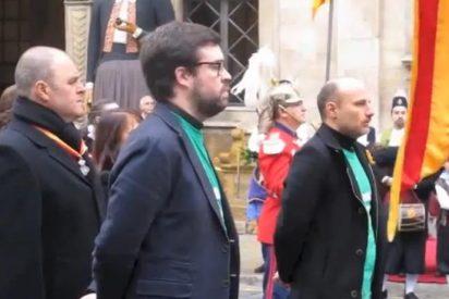 Ponen verde a Bauzá e Isern en una deslucida Festa de l'Estendard donde el alcalde de Palma promete el oro y el moro