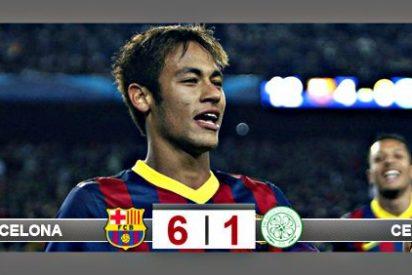 La gran noche de Neymar: tres goles, asistencias, regates y clase